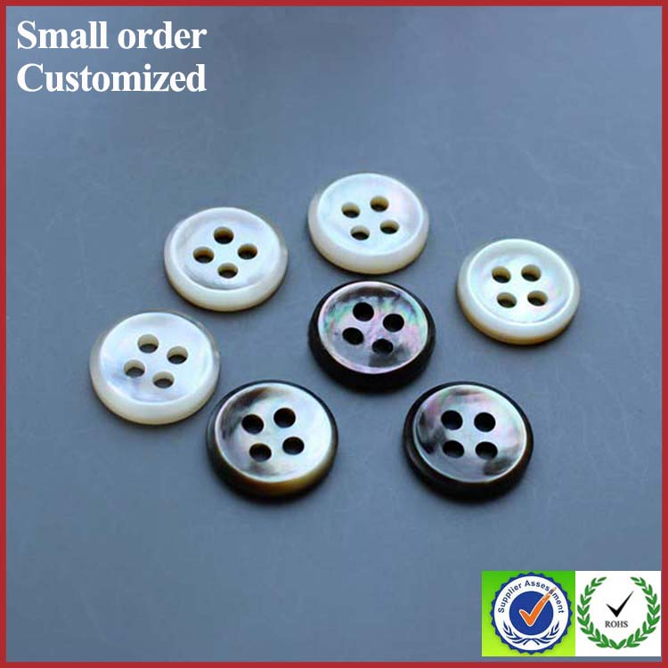Bulk white natural shell buttons 3/4 in for scarf shirt bridal dress down the back