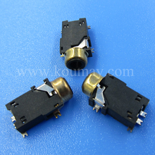 2.5mm 4 poles 1/4 smd stereo phone jack with switch