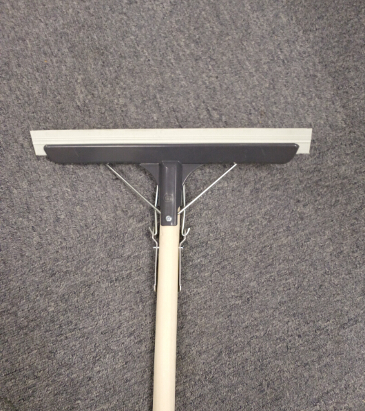 Glass wiper squeegee with wood handle