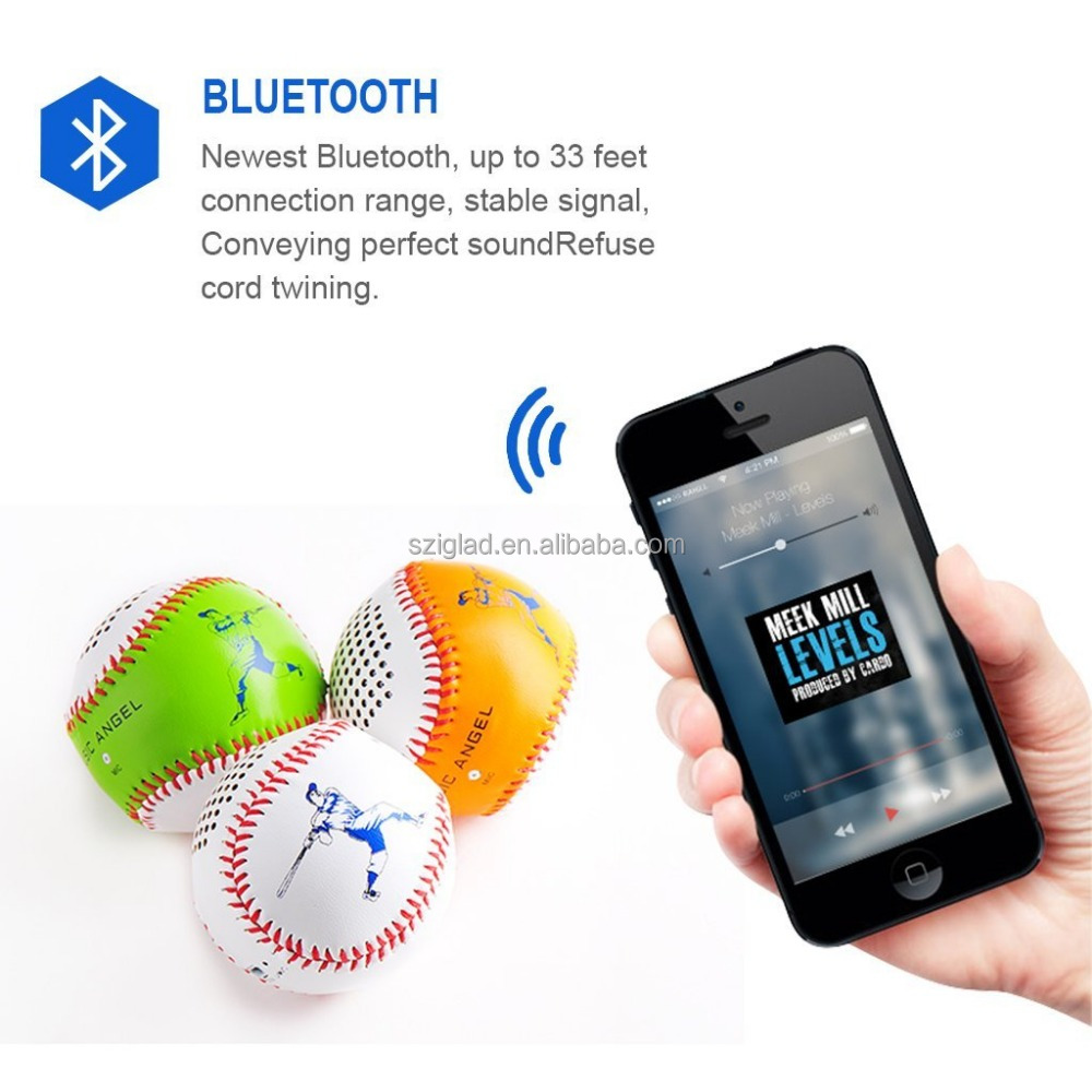 High quality Portable Stereo mini Bluetooth Speaker,Bluetooth Speaker Golf Ball Design