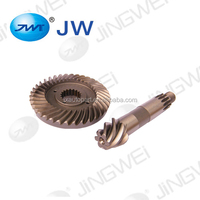 Forging alloy spiral bevel gear vehicle and forklift reducer alloy brass spare parts
