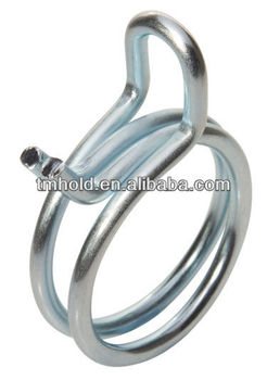 costant tension zinc-plating white colored spring wire clips without screws