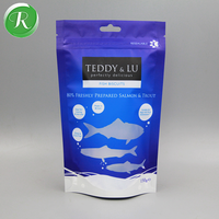 Label printing custom plastic dried frozen fish packaging food bag with fish shape window