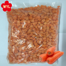 China Bulk Wholesale 10*10mm Dice IQF Frozen Carrot for Salad