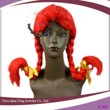 new design ladies synthetic festival long plaits orange braided wigs for sale