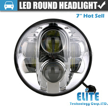 Replacement 7'' Round LED Headlight with Angel Eye H13 Head Light H4 Headlamp for Jeep Wrangler