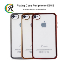 Alibaba China case mobile for iPhone 4 4s full housing shell case plating bumper