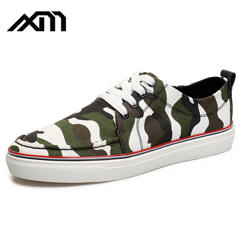 2017 factory new design Camouflage canvas casual shoes