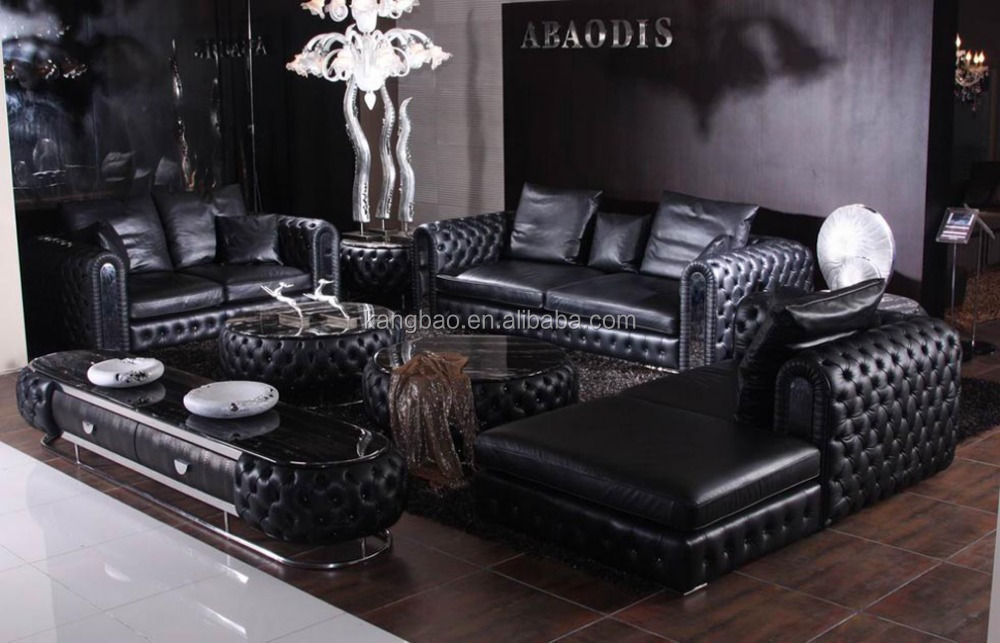High end leather living room furniture genuine leather for High end living room furniture