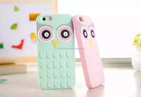 2015 hot new products for iphone 6 Apple silicone case for iphone 6 Silicone case owl design