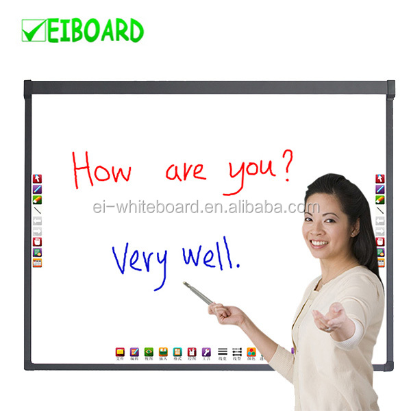 "82"" Big size finger touch school classroom interactive writing board"