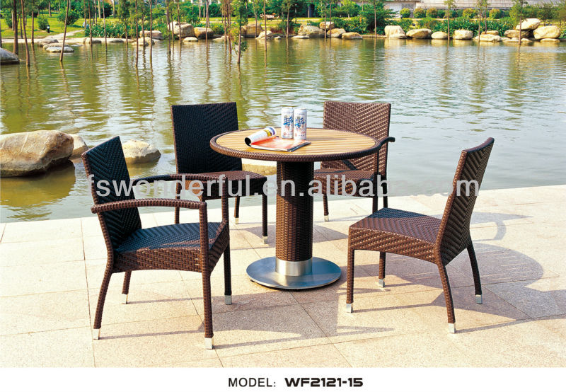 WF2121-15 rattan armchair,round table,outdoor furniture