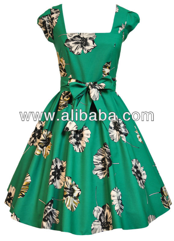 Rockabilly Vintage Swing Work Evening Dress 40s 50s Retro dress