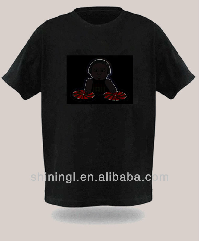 hot selling new design el equalizer for tshirt