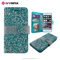 new products 2016 diamond PU leather wallet phone case for apple iphone 7 plus
