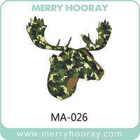 High Quality DIY MDF Moose Deer Head For 3D Wall Decor