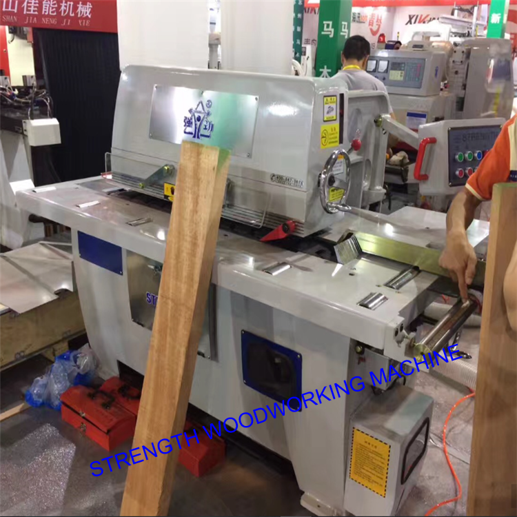 Woodworking single straight line rip saw machine