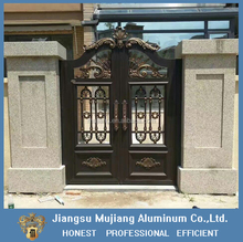 Lastest aluminum house garden main gate designs for villa,aluminum garden main door gate, aluminum garden fence gate