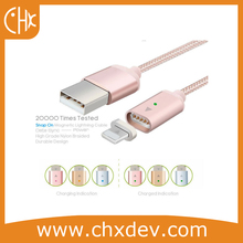 Hot Sale Braided Magnetic Lightnning USB Charger Charging Cable For Apple iPhone Samsung