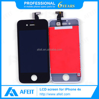 hot sell for iphone 4s purple color replace digitizer lcd touch screen//cell phone lcd screen