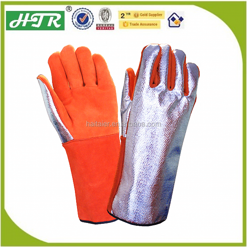 HTR Welding Gloves With Split Cowhide Palm And Aluminum
