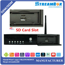 Wireless Hotpot DVB-T2+S2-C PowerVU CCcam Biss Key Video Stalker Digital HD Combo Android Internet Satellite TV Receiver