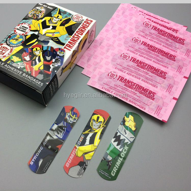 Cartoon Figure Printed Band Aid for Kid with Non Allergenic Glue FDA CE Approved