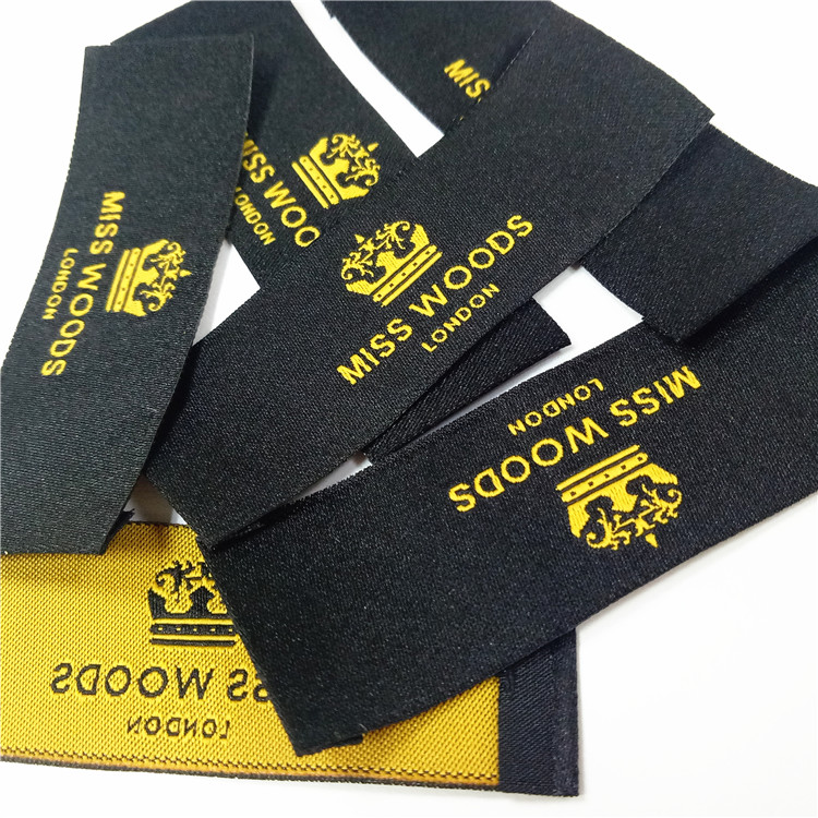 customized brand logo washing woven tags label for clothing
