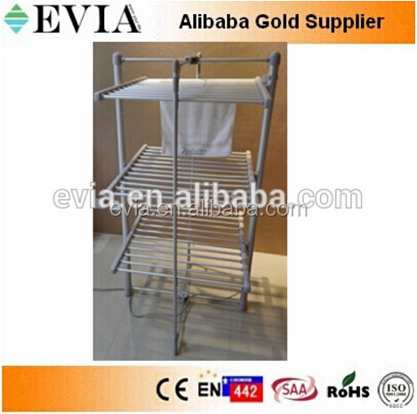 Evia Folding Dryer Rack Heated Electric clothes drying rack, grey 3 tier foldable wings electric clothes air dryer rail