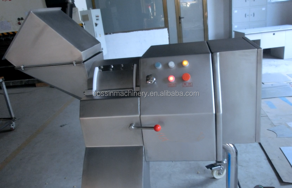 Frozen meat and fruit vegetable dicer machine