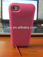 For iPhone 5 New Arrival 2500mAh Portable USB External Rechargable Backup Battery Power Bank Charger Case -Pink Color