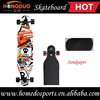 7 ply canadian maple wood skateboard with heat transfer graphic and clear grip