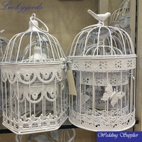 LBC056 new style bird cage decorative metal candle holder with butterfly