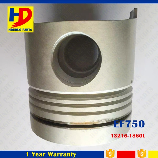 EF750 Excavator Engine Piston For Hino With Valve OEM 13216-1860L