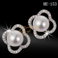 High quality 925 sterling silver bridal pearl jewelry sets earrings