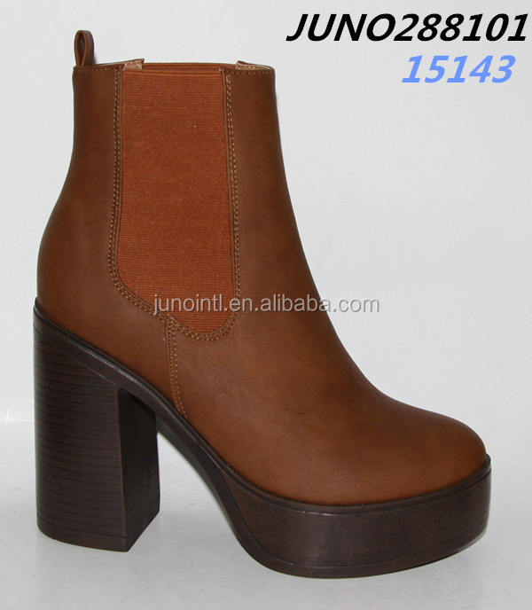 Heeled Boots with elastic