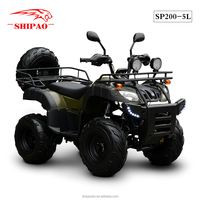 SP200-5L adult quad bike national motor atv with spare tyre