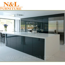 kitchen cabinet high gloss office hotel furniture with kitchen accessories