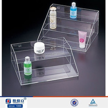 High quality customized acrylic display stand, acrylic face mask display/acrylic cosmetic display stand