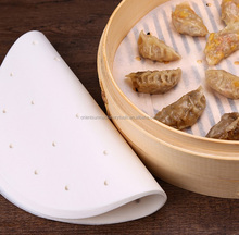 Bamboo steamer liner steaming paper