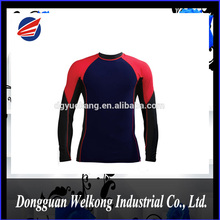 Mens Long Sleeve Anti UV Rash Guard, Compression Tops for Surfing, Swimming and Cycling