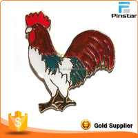 Factory directly sales OEM design custom metal soft enamel cock button badge pin