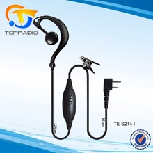 Ear Hook Headset For Two Way Radio For LINTON AF-100 AF-200 PTT Earphone For Uniden 040 042 044 052 Ear Hook Headset