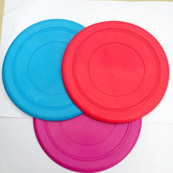 silicone custom dog pet strain soft frisbee