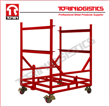 Stackable auto parts bumper spare parts steel rack