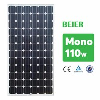 110W Monocrystalline Solar Panel From China Manufacturer , low price and high quality for PV system roof and ground