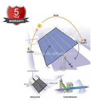 self cleaning single axis pv solar tracker systems