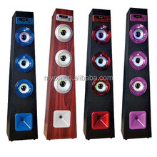 Perfect Sound Classical Bluetooth Wood tower speaker with Colorful led lights display