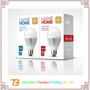 Custom whole sale Led products packing led bulb color paper box