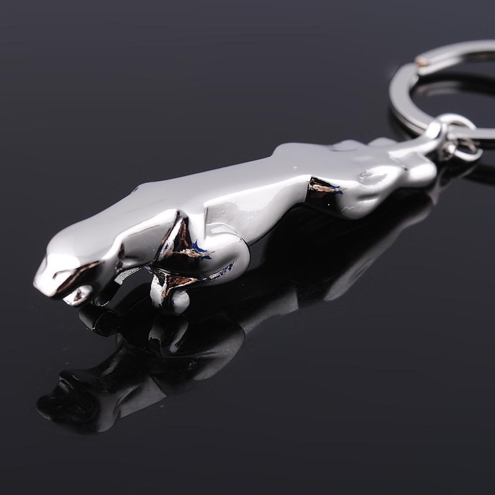 Solid Metal Keychain High Finished Animal Charm Keyring Gepard Pendant Key Holder For Men